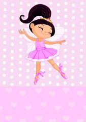 Little brunet princess