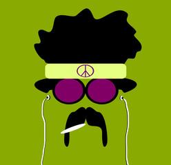 hippie smoking marijuana