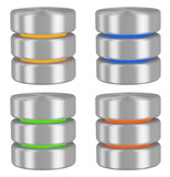 Databases icons set