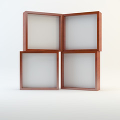 Four wood blank box display