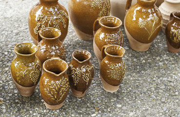 Vases clay craft