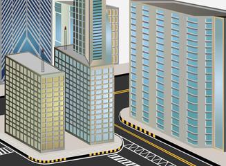 Cityscape cartoon vector background