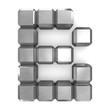 letter B cubic metal