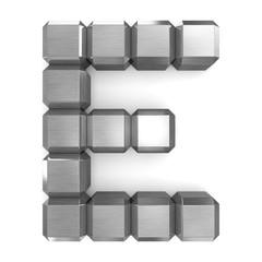letter E cubic metal