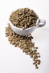 A Cup of Columbia Coffee Green Bean