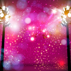 spotlight vector background