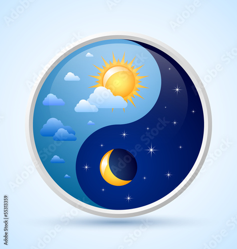 Day and night symbol