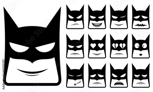 Batman smiley icons
