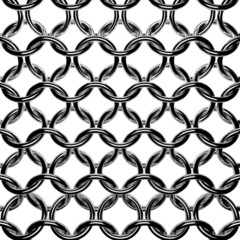 Abstract chain mail grid texture. Armor steel rings