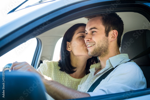 Happy life - couple in car