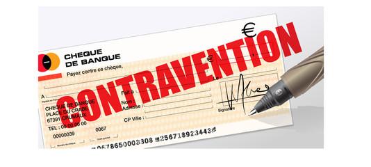 contravention - amende