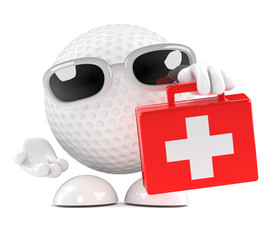 Golfball arrives with first aid