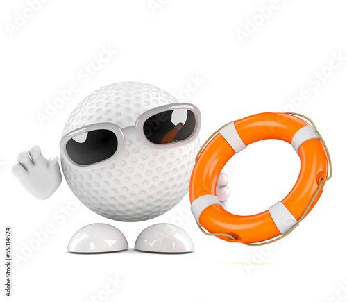 Golfball throws a lifeline