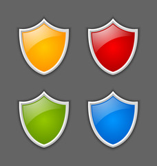 Colorful shields