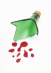Scherbe und Blut