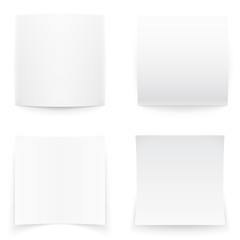 Paper banners on white background, soft shadows.