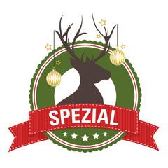 Weihnachtlicher Button: SPEZIAL