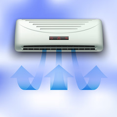 Cold stream comming from air conditioner