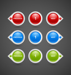 Pagination buttons