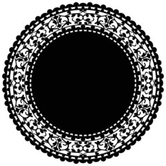 Vector illustration of black doily