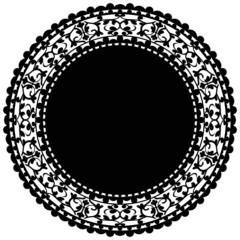 Vector illustration of black doily