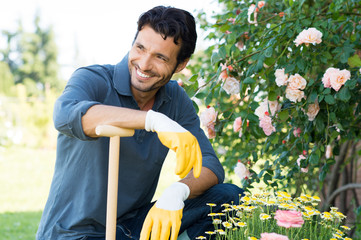 Portrait Of Man Gardening