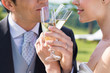 Married Couple Drinking Champagne