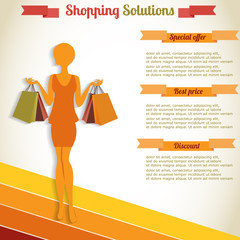 Shopping infographics element