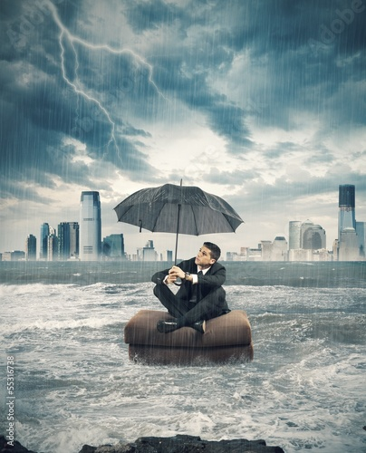 Crisis storm in business