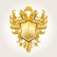 golden coat of arms on white