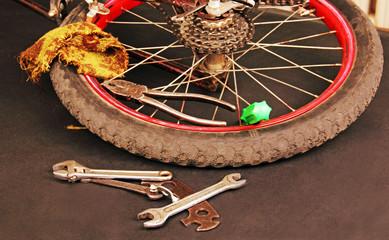 bicycle repair.