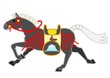 黒い飾り馬