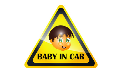 Car Decal With The Baby's Face 2