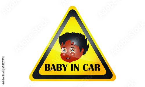 Car Decal With The Baby's Face 3
