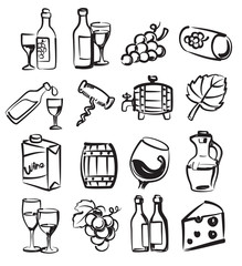 hand draw wine