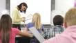 Teacher Taking School Register