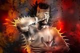 disease concept, discomfort, pain man poster