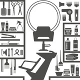 Fototapety Hair styling salon silhouettes