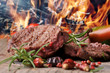 canvas print picture - gegrilltes Steak vom Rind