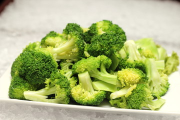 closeup detail of boiled broccoli