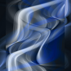 Abstract smoke waves on dark blue background