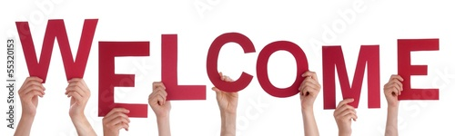 Persons Holding Welcome