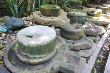 The ancient, stone in garden,Thailand