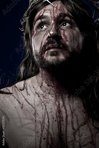 Jesus Christ, crucifixion concept, religion picture