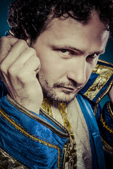Blue prince, royal concept, funny fantasy picture