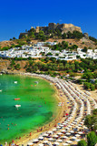 Greece holidays, Rhodes island, Lindos beach