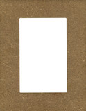 Chipboard photo frame poster