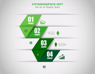 Infographics concept to display your data