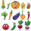Постер, плакат: Мультфильм овощи и фрукты