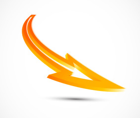 Vector orange arrow